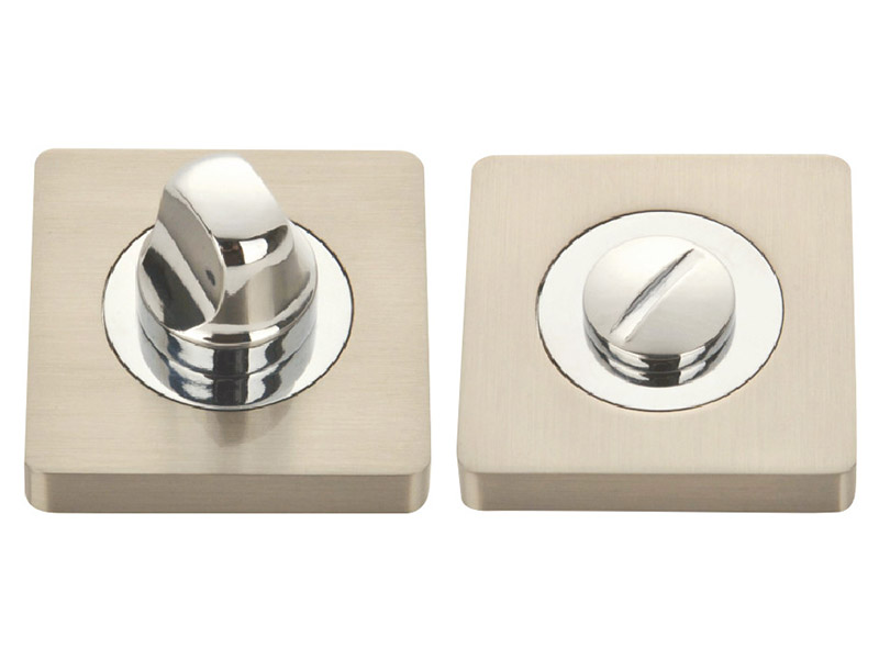 BT52-SQ-ZINC ALLOY LEVER DOOR HANDLE ON ROSE