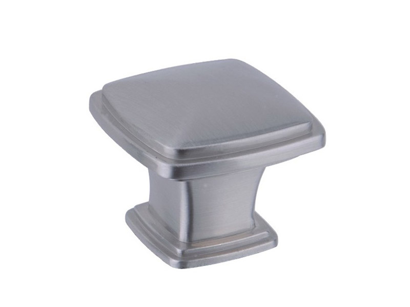 CK107 SN Finish Square Cabinet Knobs-CABINET KNOB & PULL