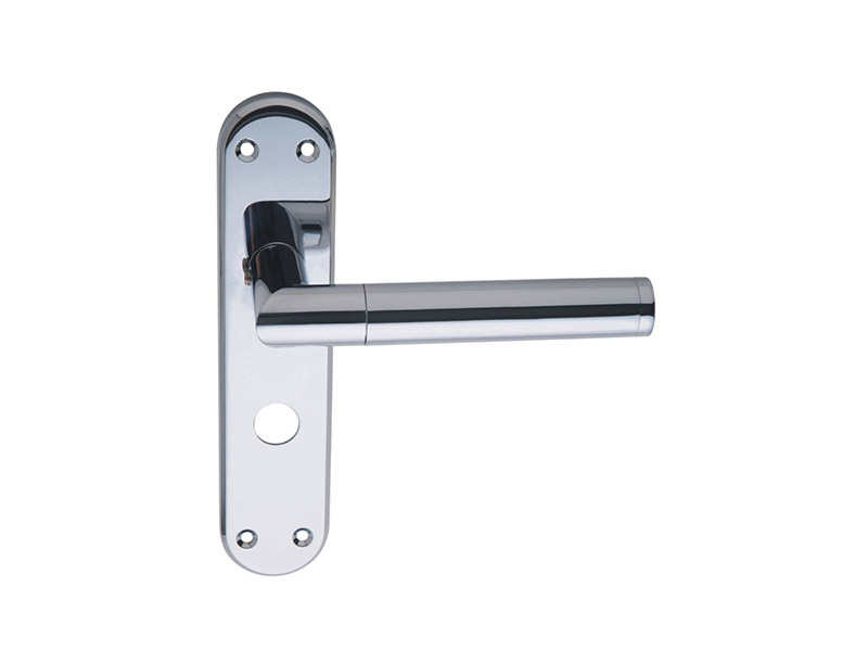 DH18027-LEVER DOOR HANDLE ON PLATE