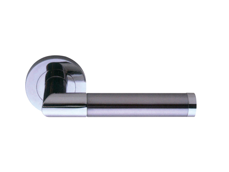 DH5207 European Style Zinc Alloy Door Lever Handle-Zinc-ZINC ALLOY LEVER DOOR HANDLE ON ROSE