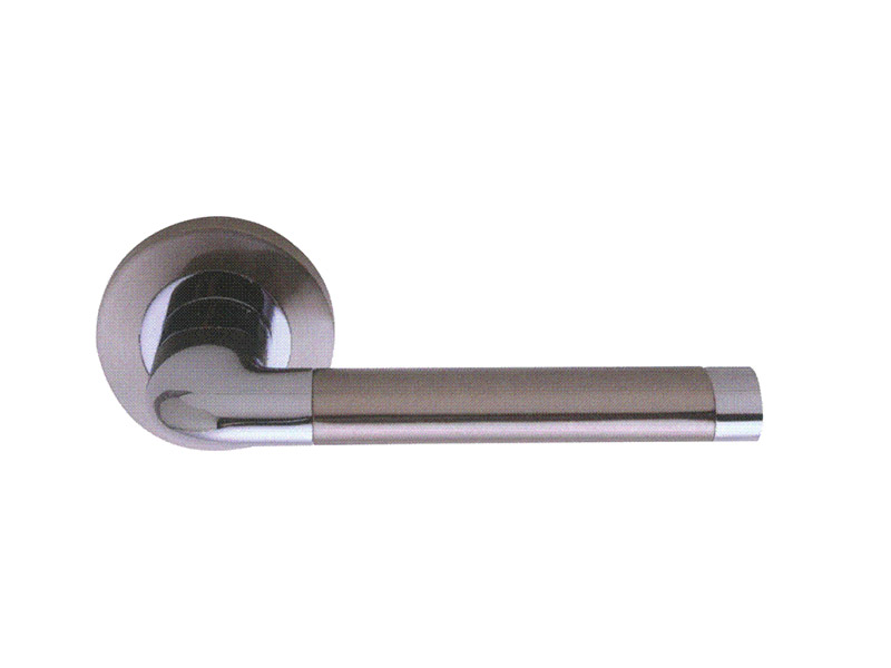 ZINC ALLOY LEVER DOOR HANDLE ON ROSE-DH5208 Zinc Door Handles Lever Lock Entry Locks
