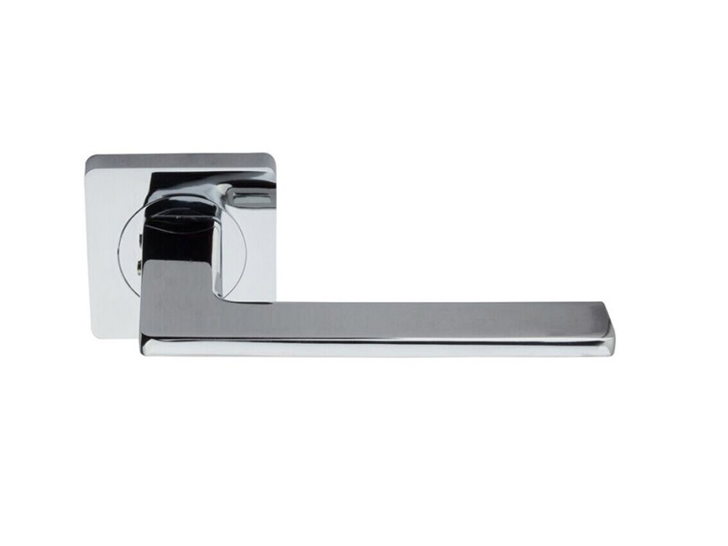 DH5237-SQ-ZINC ALLOY LEVER DOOR HANDLE ON ROSE