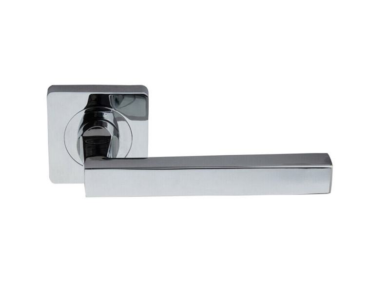 DH5243-SQ-ZINC ALLOY LEVER DOOR HANDLE ON ROSE
