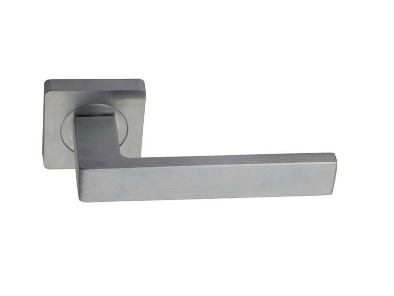 DH5252-SQ-ZINC ALLOY LEVER DOOR HANDLE ON ROSE