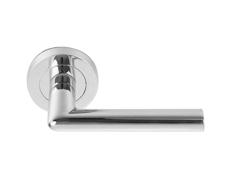 DH5255-ALUMINIUM ALLOY LEVER DOOR HANDLE ON ROSE