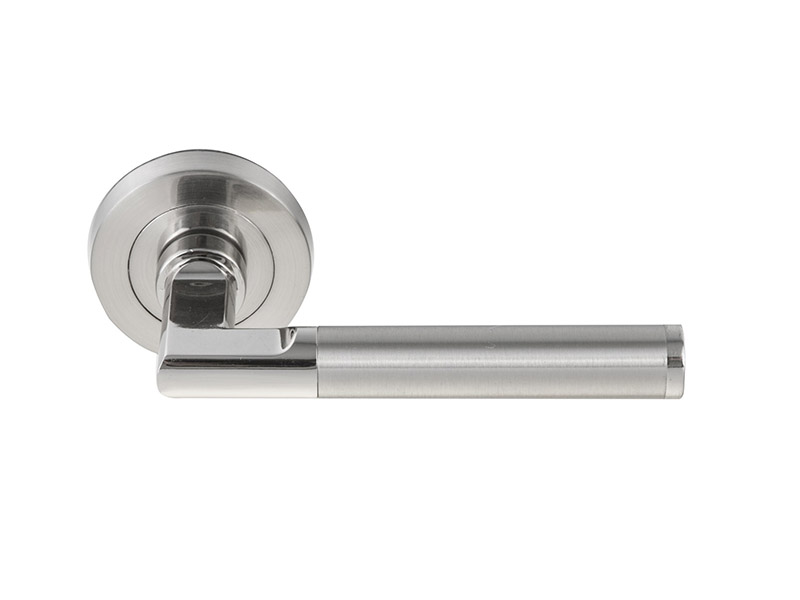 DH5257 Zinc Die-cast Door Handle-Zinc-ZINC ALLOY LEVER DOOR HANDLE ON ROSE