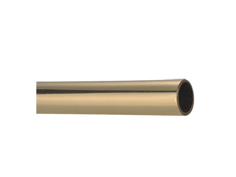 Smooth Tube-S3828 Brushed Bress Stair Rod-STAIR ROD